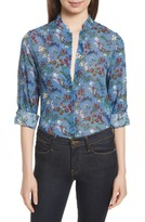 Alice + Olivia Women's Eloise Floral Stretch Silk Blouse