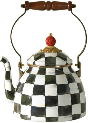 Mackenzie Childs MacKenzie-Childs - Courtly Check Enamel Tea Kettle - Small