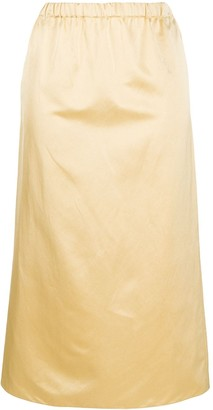 Marni Pleated Straight-Fit Skirt