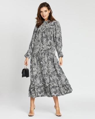 Topshop Petite Petite Bell Sleeve Chuck-On Dress