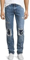 True Religion Rocco Distressed Relaxed-Skinny Jeans