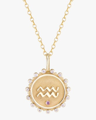 Marlo Laz Zodiac Aquarius Pendant Necklace