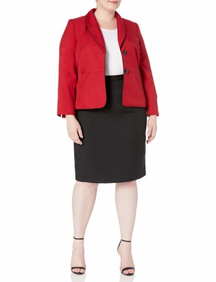 Le Suit LeSuit Women's Plus Size Glazed Melange Two Button Skirt