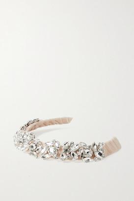 LELET NY Rock Candy Crystal-embellished Velvet Headband