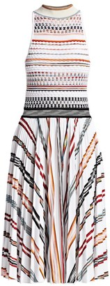 Missoni Striped Knit Bodice Dress