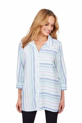 Foxcroft Women's Santino Dobby Stripe Tunic