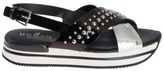 Hogan Studded Platform Sandals