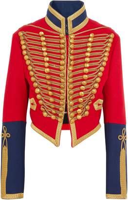 Burberry Embellished Wool-felt Jacket