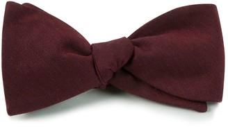 Tie Bar Astute Solid Burgundy Bow Tie