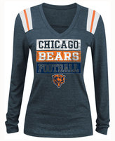 5th & Ocean Women's Chicago Bears Triple Threat Long-Sleeve T-Shirt