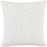 One Kings Lane Snow Leopard 20x20 Pillow - Ivory