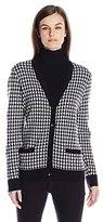 Pendleton Women's Houndstooth Cardigan Sweater