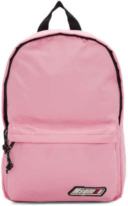 MSGM Pink Logo Backpack