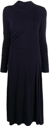 Giorgio Armani Drape-Embellished Midi Dress