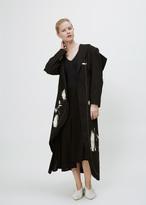 Yohji Yamamoto Black Stole Collar Long Jacket