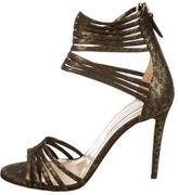 Diane von Furstenberg Metallic Printed Sandals