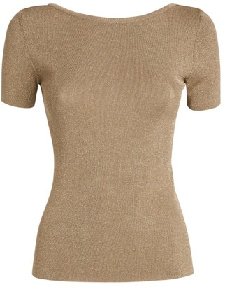 Max Mara Fennec Metallic Knit Top