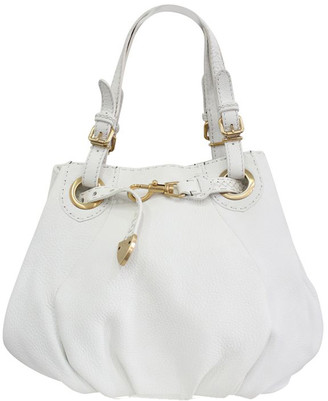 Fendi White Leather Shoulder Bag