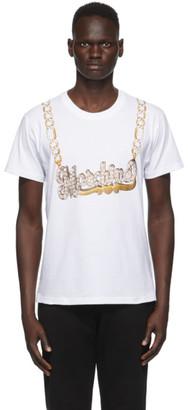 Moschino White Macro Necklace T-Shirt
