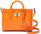 Diane von Furstenberg Mini 440 'Viviana' Leather Orange Satchel Bag
