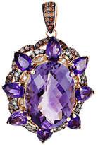 Generic Gemstones 14K Rose Gold 3.87 Ct. Tw. Diamond & Amethyst Necklace Pendant