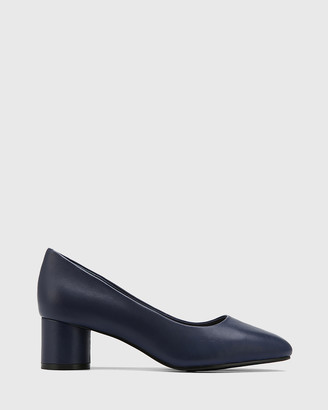 Wittner - Women's Navy All Pumps - Galore Leather Round Toe Pumps - Size One Size, 37 at The Iconic