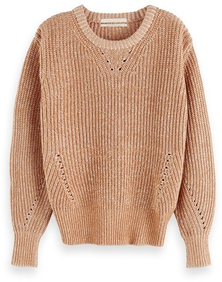 Maison Scotch Toasted Knit Sweater - XS - Copper/Wood/Brown