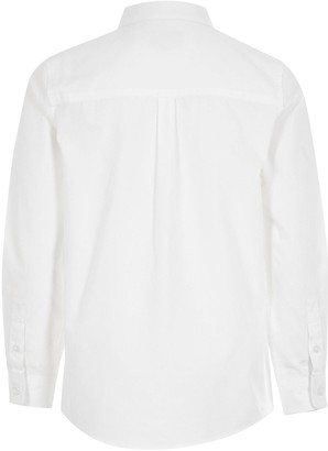 River Island Boys Long Sleeve Smart Shirt -White