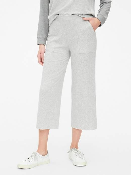 Gap Fleece Wide-Leg Crop Pants