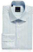 David Donahue Men's Big & Tall Regular Fit Check Dress Shirt