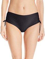 Luli Fama Women's Cosita Buena Reversible Drawstring High Rise Bikini Bottom