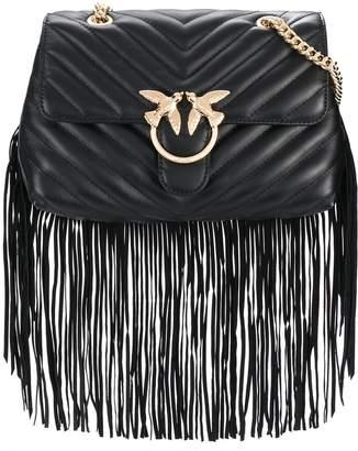 Pinko Love Simply fringe shoulder bag
