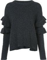 Cinq à Sept frill trim sweater