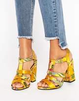 New Look Summer Brocade Heeled Platform Sandal