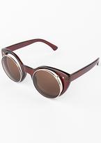 Missy Empire Brianna Brown Cat Eye Flip Sunglasses