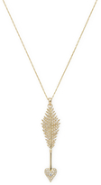 Mizuki 14K Yellow Gold & Diamond Heart Arrow Necklace