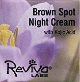 Reviva Labs Brown Spot Night Cream with Kojic Acid -- 1 oz
