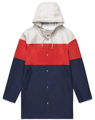 Stutterheim Stockholm Stripe Unisex Raincoat - xxxs