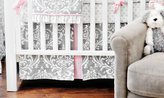 New Arrivals Inc. New Arrivals Stella Gray 2 Piece Crib Bedding Set, Grey