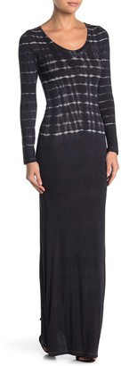 Go Couture Long Sleeve Scoop Neck Maxi Dress
