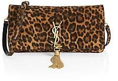 Saint Laurent Women's Kate Supple 99 Leopard Shoulder Bag