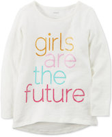 Carter's Girls Are The Future Graphic-Print Cotton T-Shirt, Little Girls (2-6X) and Big Girls (7-16)