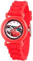 Cars Boys' Disney Lightning McQueen Plastic Time Teacher Watch -