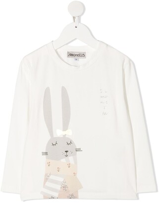 Simonetta rabbit-print T-shirt