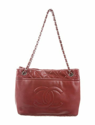 Chanel Caviar Timeless Shopper Tote Red
