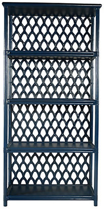 David Francis Furniture Casablanca Etagere - Navy Blue