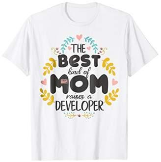 Floral Best Kind Of Mom Developer Mother's Day T-Shirt