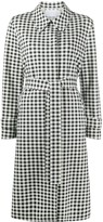 Harris Wharf London gingham patterned belted coat