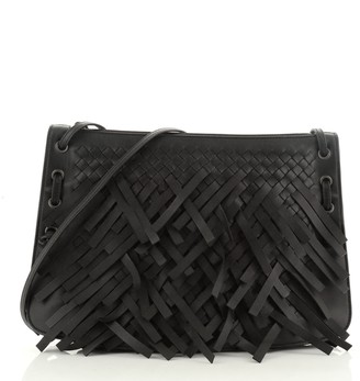 Bottega Veneta Zip Top Messenger Fringe Intrecciato Nappa Large