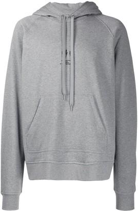Neil Barrett logo drawstring hoodie